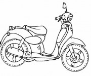 Coloriage Moto simple