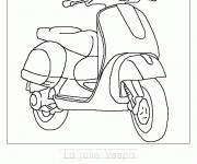 Coloriage Scooter 13