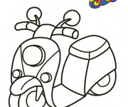 Coloriage Scooter 19