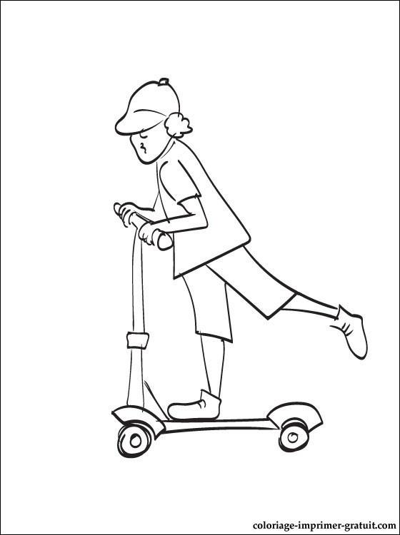 Coloriage Scooter 28 dessin gratuit à imprimer