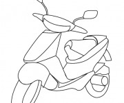 Coloriage Scooter 3