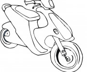 Coloriage Scooter 8