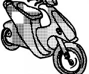 Coloriage et dessins gratuit Scooter à découper à imprimer