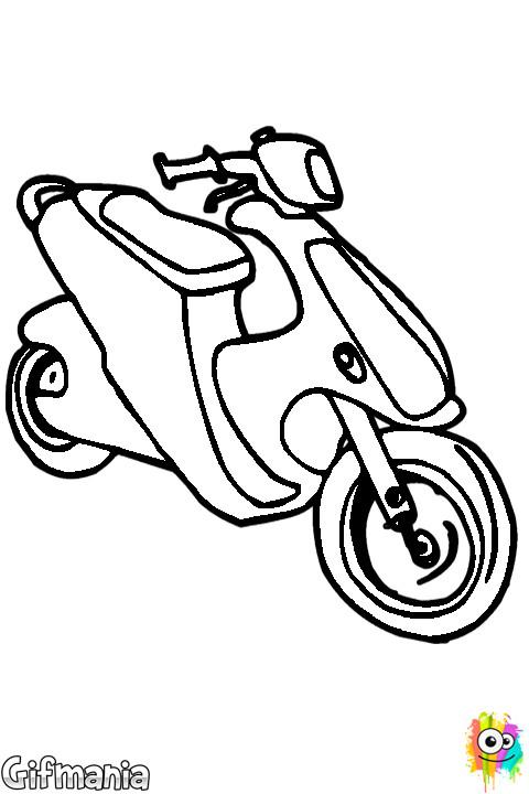 Coloriage et dessins gratuits Scooter à découper à imprimer