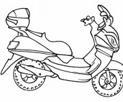 Coloriage Scooter couleur