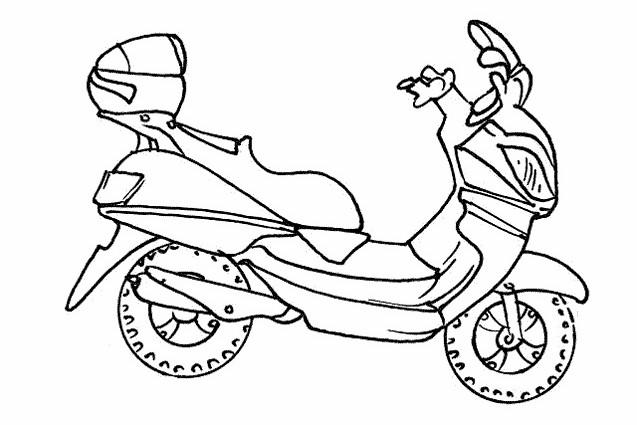 Coloriage et dessins gratuits Scooter couleur à imprimer
