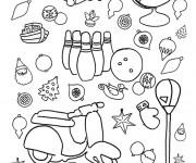 Coloriage et dessins gratuit Scooter et Jouets à imprimer