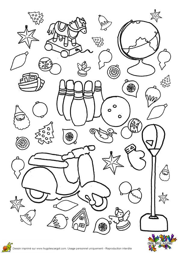 Coloriage et dessins gratuits Scooter et Jouets à imprimer