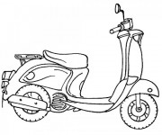 Coloriage Scooter facile