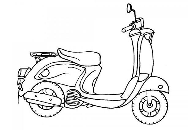 Coloriage et dessins gratuits Scooter facile à imprimer