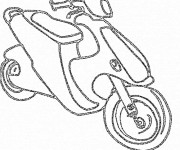 Coloriage Scooter maternelle