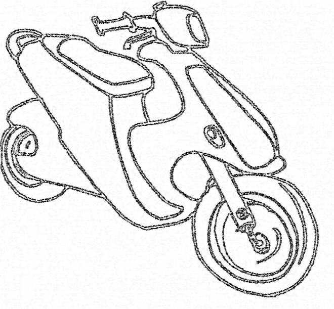 Coloriage et dessins gratuits Scooter maternelle à imprimer