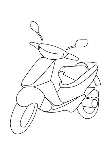 Coloriage et dessins gratuits Scooter stylisé à imprimer