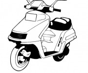 Coloriage Scooter vecteur