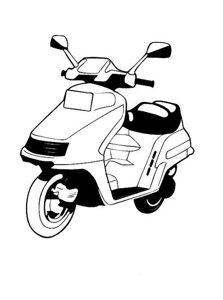 Coloriage et dessins gratuits Scooter vecteur à imprimer