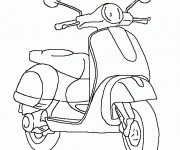 Coloriage Scooter Vespa
