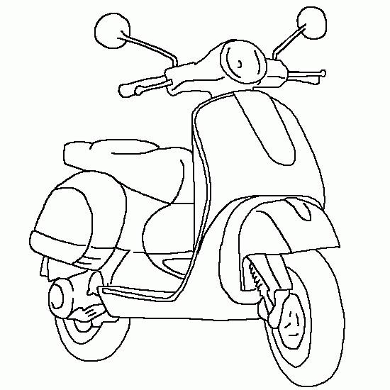 Coloriage et dessins gratuits Scooter Vespa à imprimer