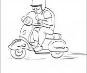 Coloriage et dessins gratuit Scooter Vespa en ligne à imprimer
