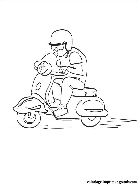 Coloriage et dessins gratuits Scooter Vespa en ligne à imprimer