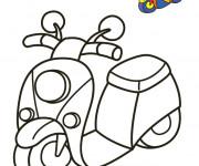 Coloriage et dessins gratuit Vespa en couleur à imprimer