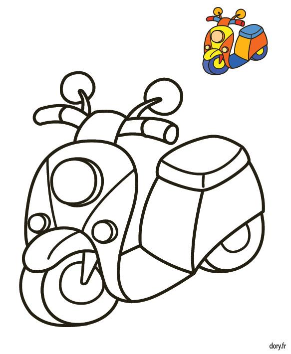 Coloriage et dessins gratuits Vespa en couleur à imprimer
