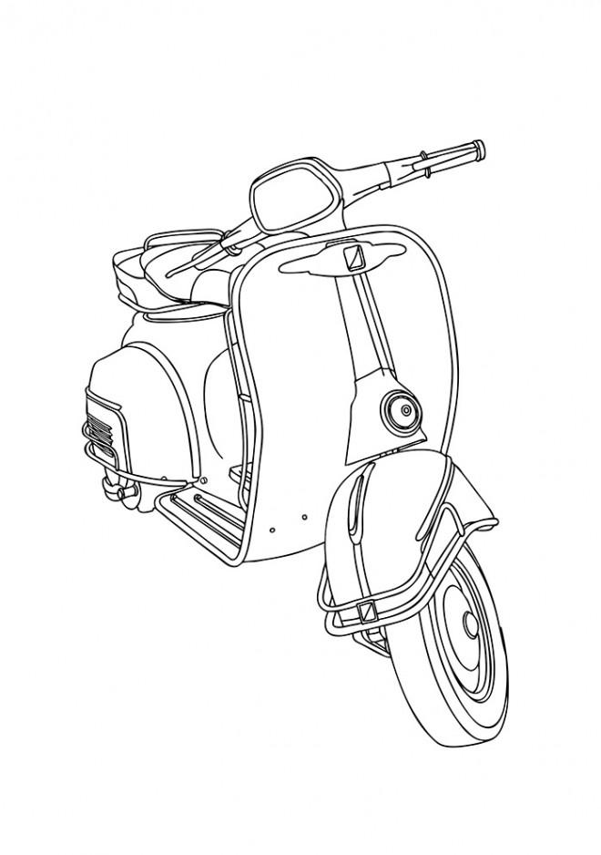 Coloriage et dessins gratuits Vespa Italienne à télécharger à imprimer