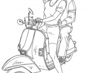 Coloriage Vespa Tuning