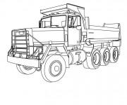 Coloriage Camion Benne classique