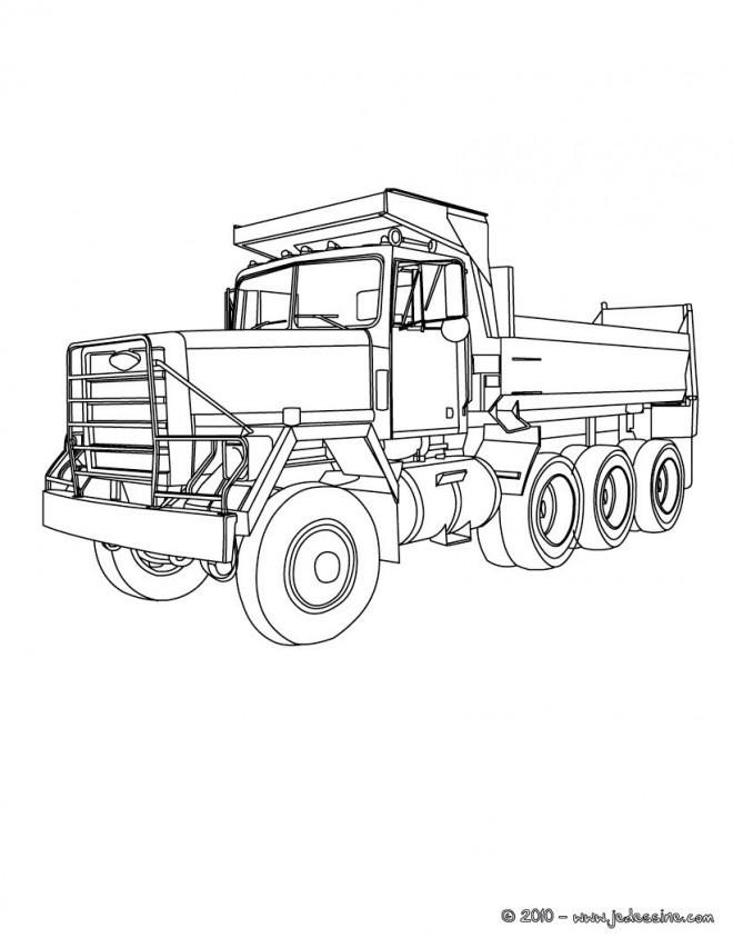 Coloriage et dessins gratuits Camion Benne classique à imprimer
