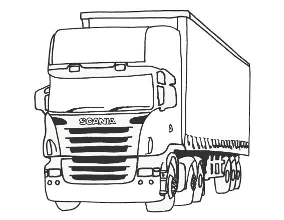 Coloriage camion scania dessin gratuit imprimer - Camion americain dessin ...