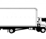 Coloriage et dessins gratuit Camion Semi Remorque facile à imprimer