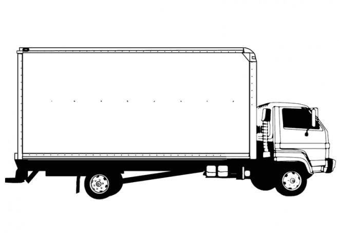 Coloriage camion semi remorque facile dessin gratuit - Dessin de camion semi remorque ...