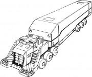 Coloriage La remorque d'un camion