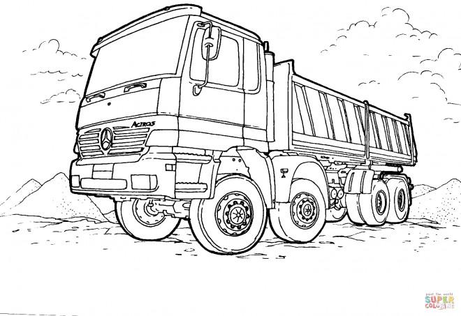 Coloriage et dessins gratuits Un Camion Mercedes à imprimer