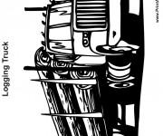 Coloriage et dessins gratuit Un Camion Semi Remorque américain à imprimer