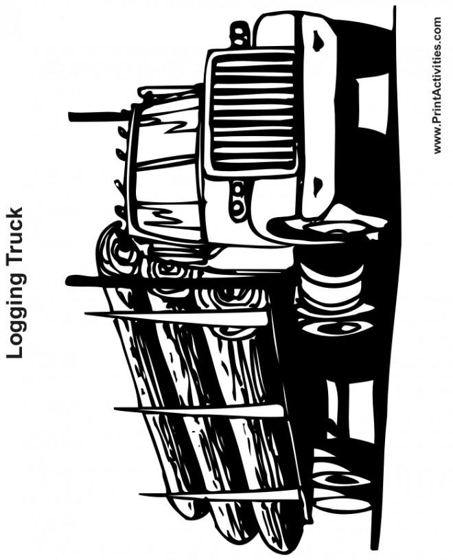 Coloriage et dessins gratuits Un Camion Semi Remorque américain à imprimer