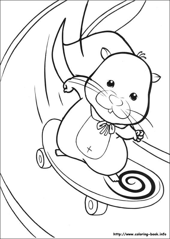 Coloriage et dessins gratuits Animal Skateur à imprimer