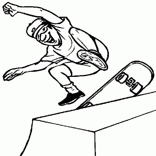 Coloriage gar on joue au skate dessin gratuit imprimer - Dessin garcon a imprimer ...
