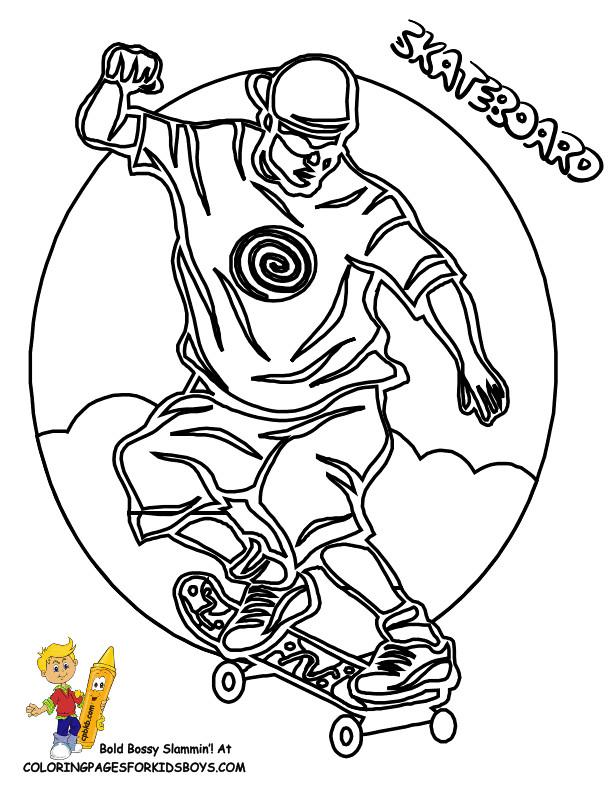 Coloriage illustration skateboard dessin gratuit imprimer - Dessin skateboard ...