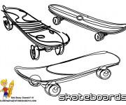Coloriage Illustration Skateboards à colorier