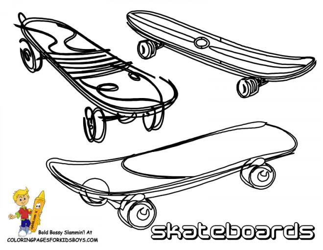 Coloriage et dessins gratuits Illustration Skateboards à colorier à imprimer