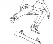Coloriage Jeune Skateur professionnel à télécharger