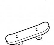 Coloriage Le sport Skateboard pour jeune