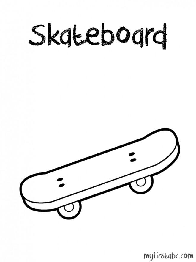 Coloriage et dessins gratuits Le sport Skateboard pour jeune à imprimer