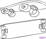 Coloriage et dessins gratuit Planche Skate à imprimer