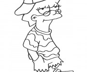 Coloriage Simpson Lisa