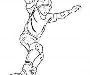 Coloriage Skateboard 14