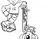 Coloriage Skateboard 15
