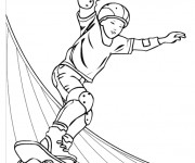 Coloriage Skateboard 16
