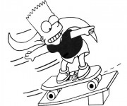 Coloriage Skateboard 19